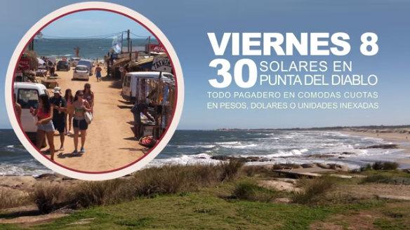 8 de enero: Remate de solares en Punta del Diablo!