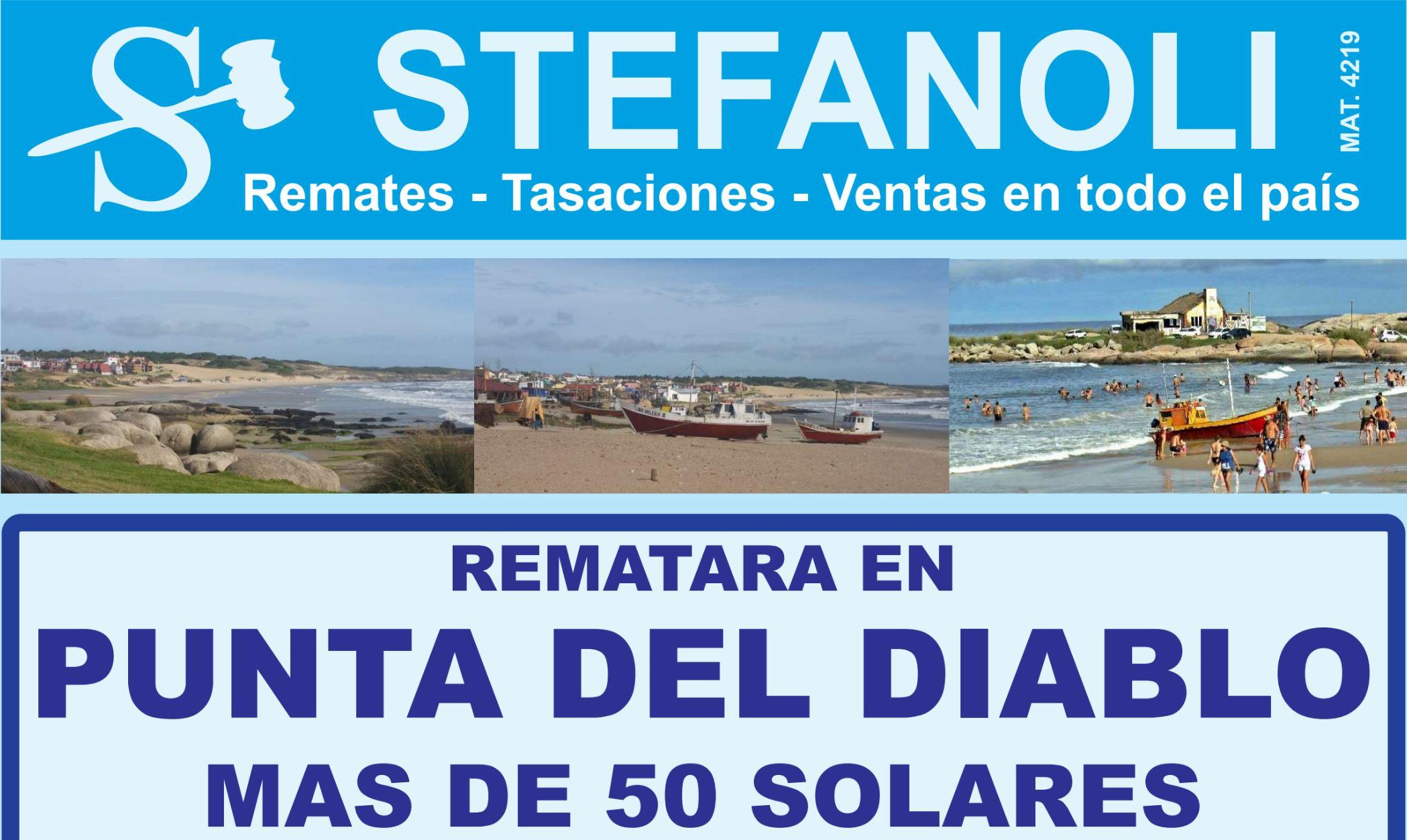 Stefanoli Remata más de 50 solares en Punta del Diablo